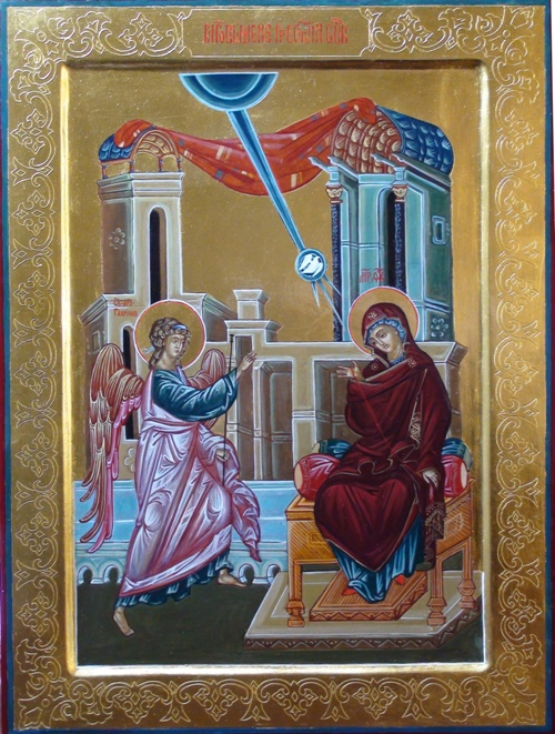праздничная икона Благовещение